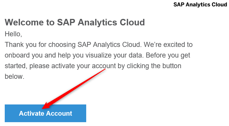 SAP Analytics Cloud – The Very First Steps